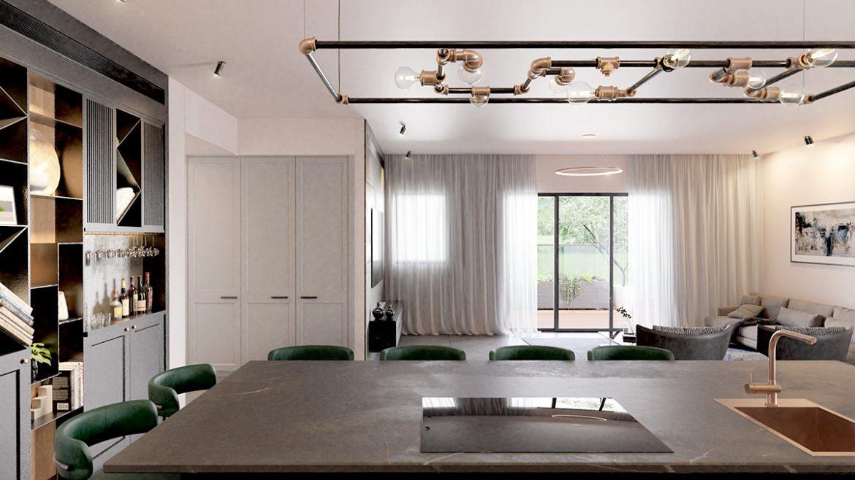 עיצוב חדר אוכל משפחת לוי
